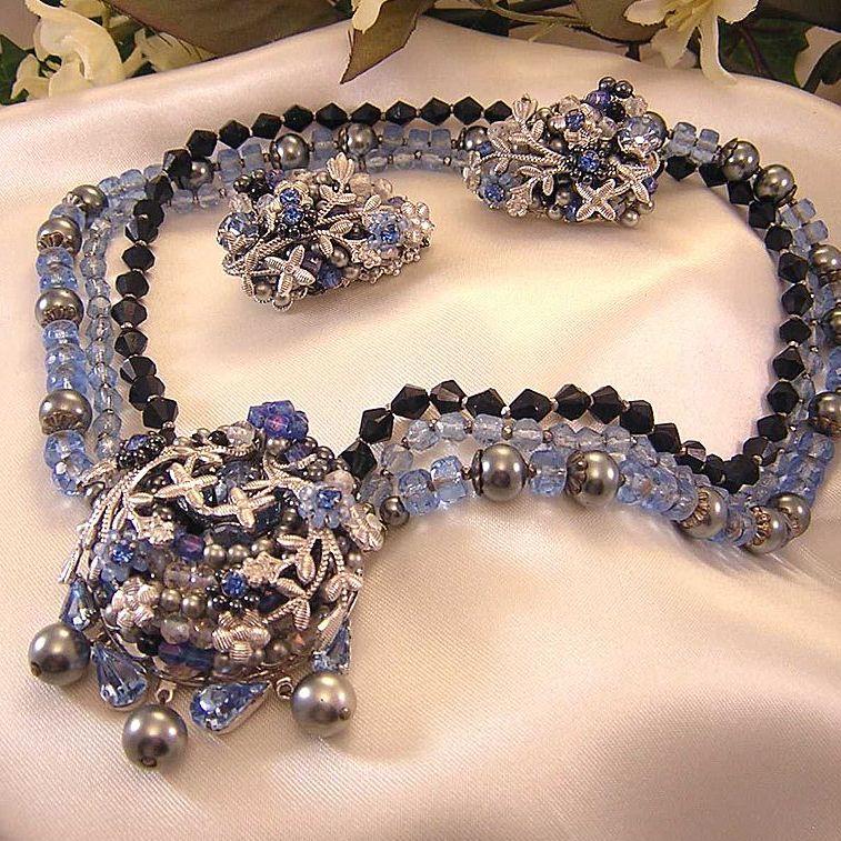 Vintage Eugene Schultz Necklace & Earrings!
