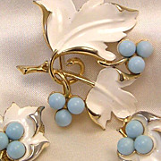 "Vintage Sarah Coventry Enamel ""Placid Beauty"" Set / Demi"