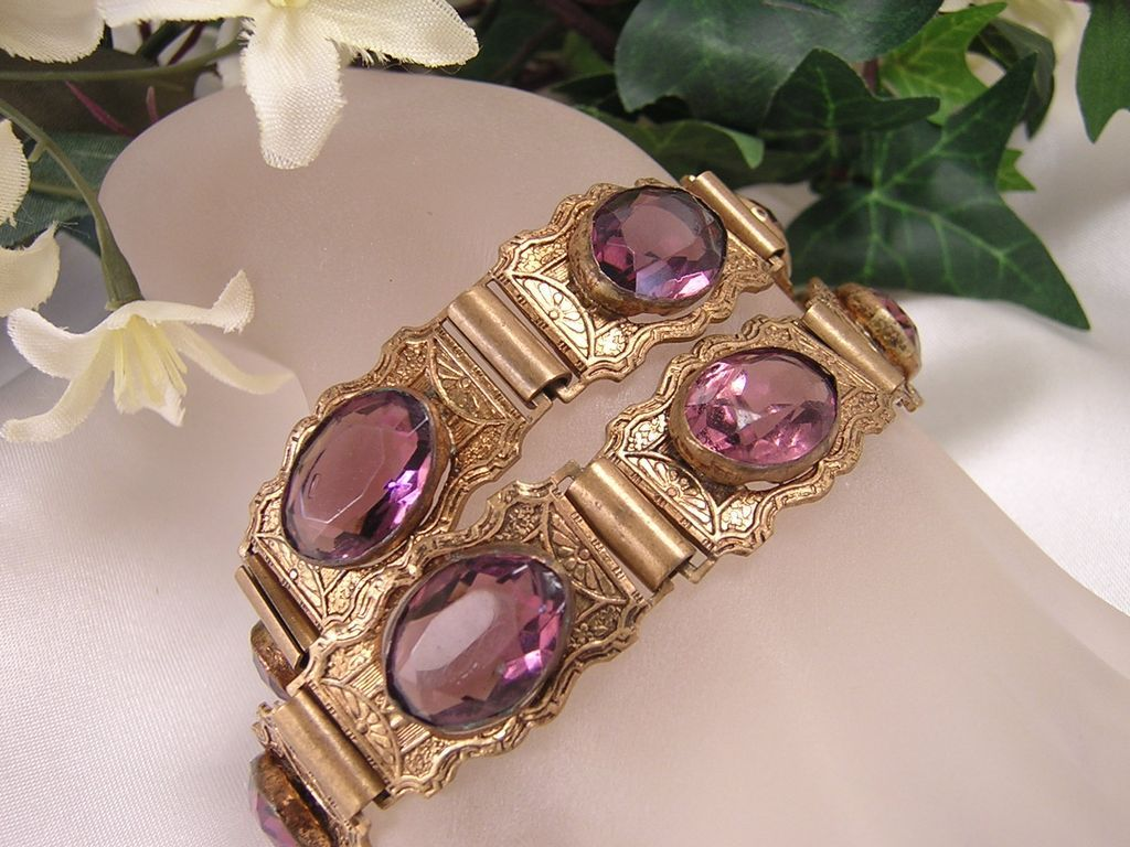 This Item Is Reserved / Victorian Amethyst Wedding  Bracelets