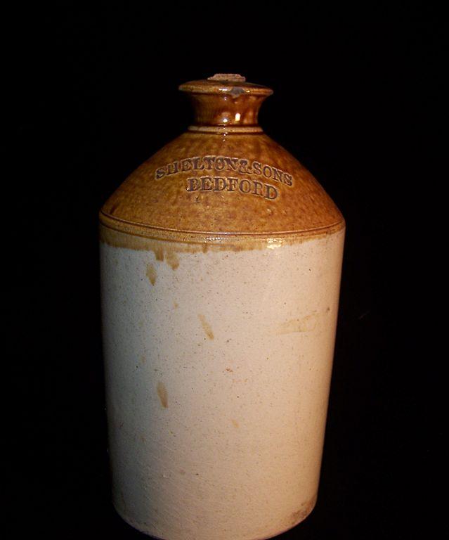 Vintage Stoneware Crock Jug / Bottle- Shelton & Sons Bedford