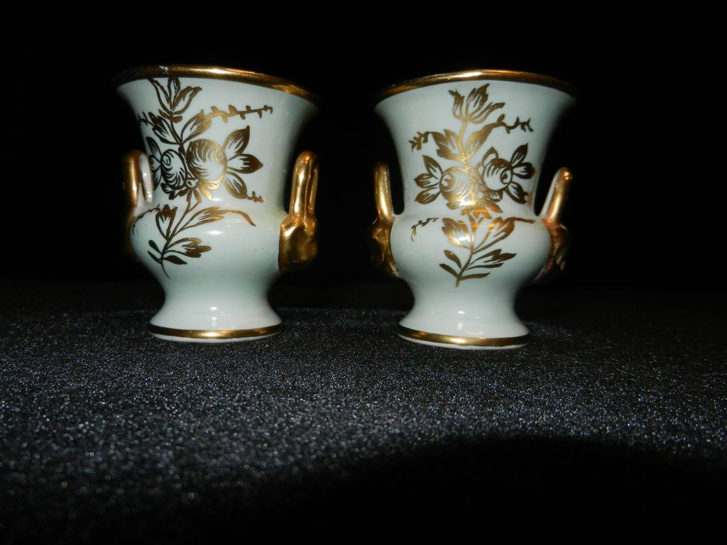 Vintage Amogee Urn Hand Painted Toothpick Holders