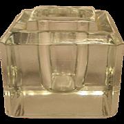 Vintage Sengbusch Glass Desk Top Inkstand