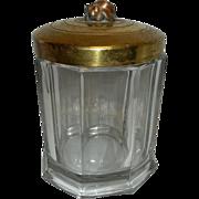 Vintage Glass Tobacco Humidor
