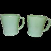 Vintage Fire King Jadite Coffee Cups