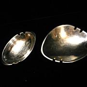 Vintage Nambe Polished Aluminum Ash Trays