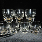 Vintage Crystal Double Shot Glasses