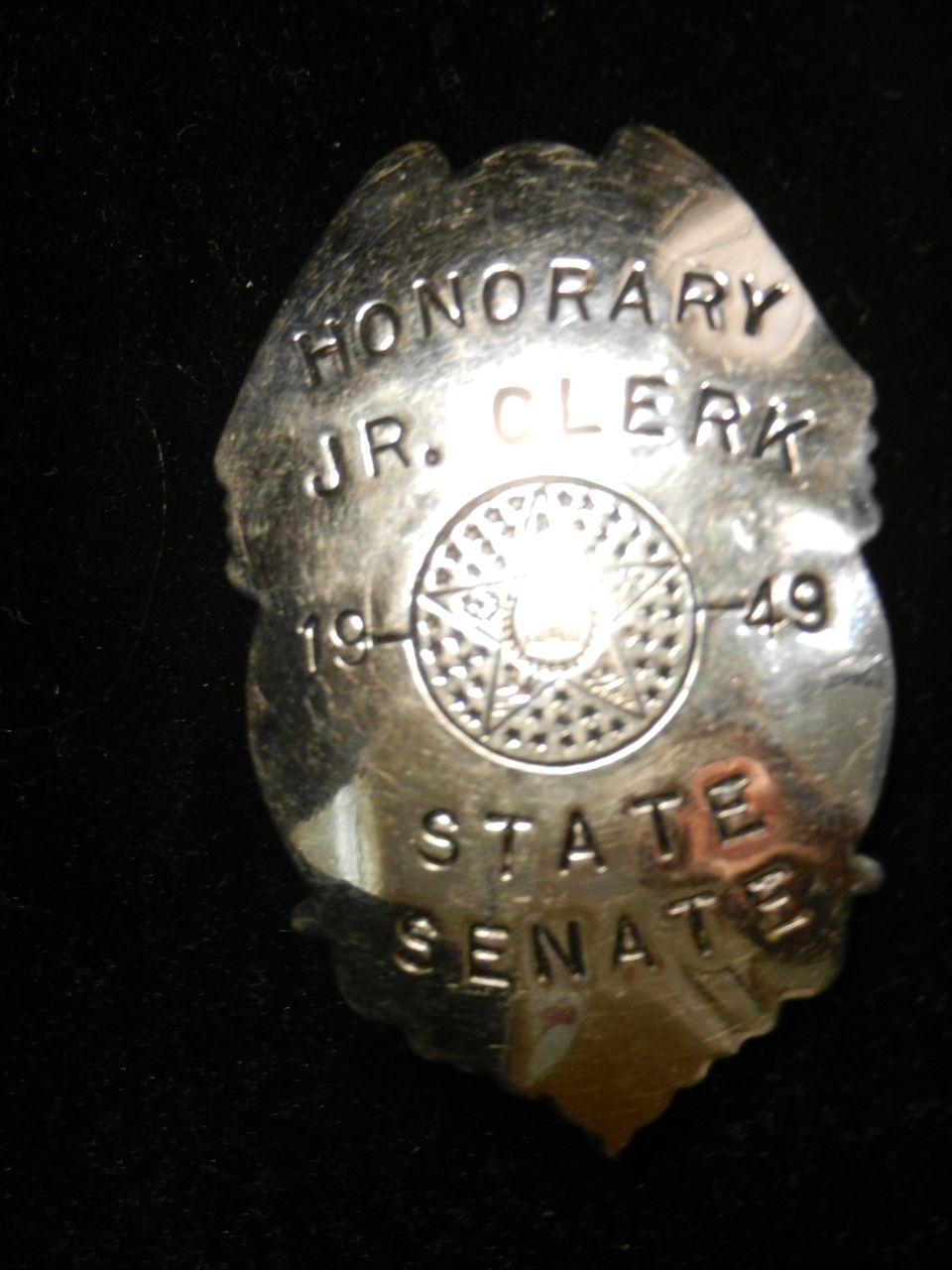 Vintage Southwestern Honorary State Senate Badge-1949