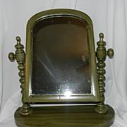 Vintage  Wood Vanity or Shaving Mirror