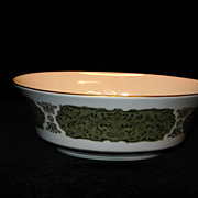 "Vintage Sango Chantilly 9"" Oval Vegetable Bowl Pattern 3692"