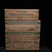 Vintage Wooden Cheese Boxes