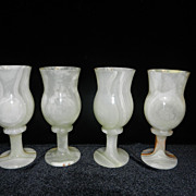 Vintage Onyx Wine or Water Goblets  from Packistan