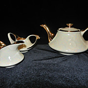 Vintage Pearl China Co. Hand Decorated 22 KT Gold Tea Set
