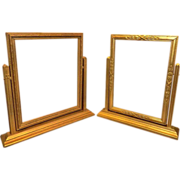 Vintage Art Deco Swinging Wood Picture Frames