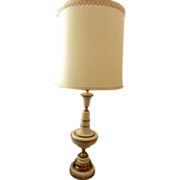 Vintage Rembrandt Brass and Enamel Table Lamps