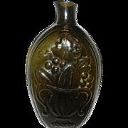 GIII-4 Cornucopia Urn PINT Olive  McKearin Glass Historical Flask Bottle