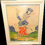 Vintage Uncle Wiggily Illustration Framed Art