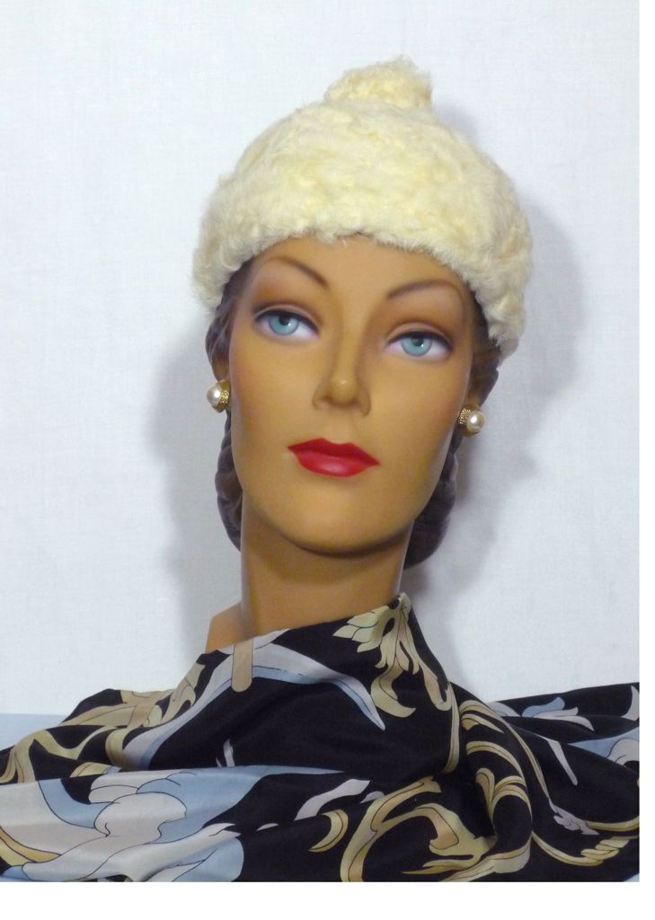 Vintage Late 1950s Early 1960s Lilly Dache Persian Lamb Hat