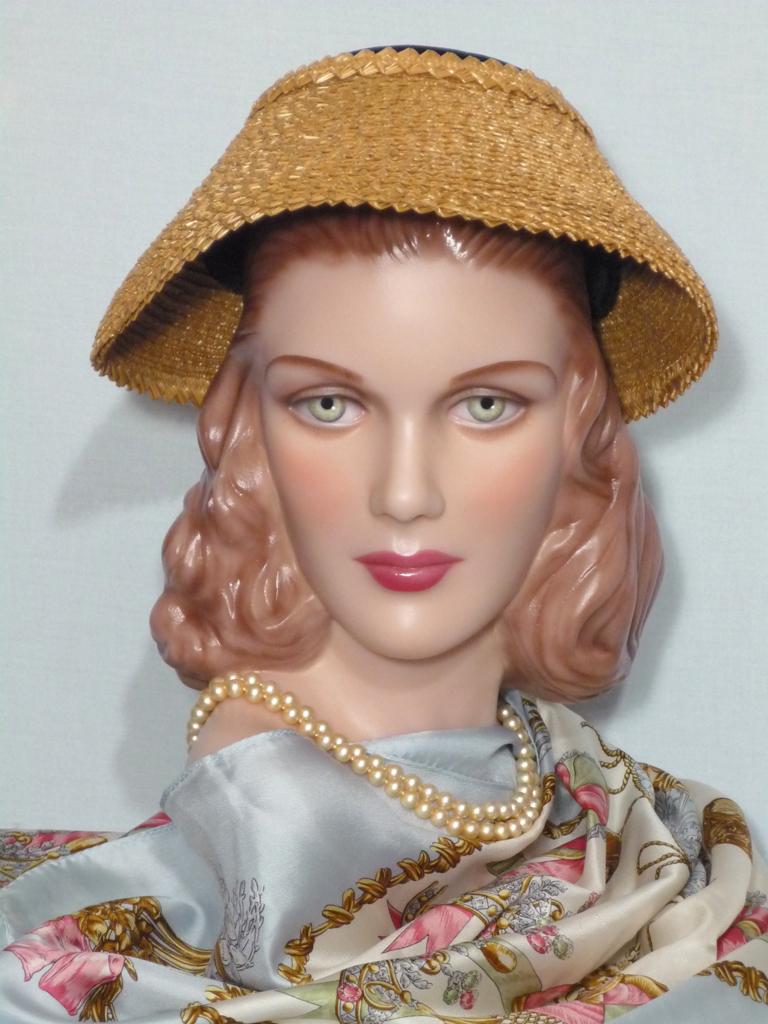 Vintaage 1950s  Valerie Modes Straw and Black Velvet New Look Hat