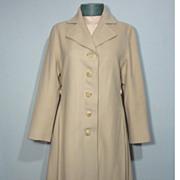 Vintage 1960s Ivory Cashmere Coat