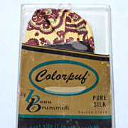 Vintage 1960s Beau Brummell Silk Paisley Colorpuf in Original Box