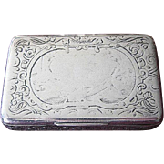 Beautiful Heavy Sterling Repousse Box with Gold Wash Inside