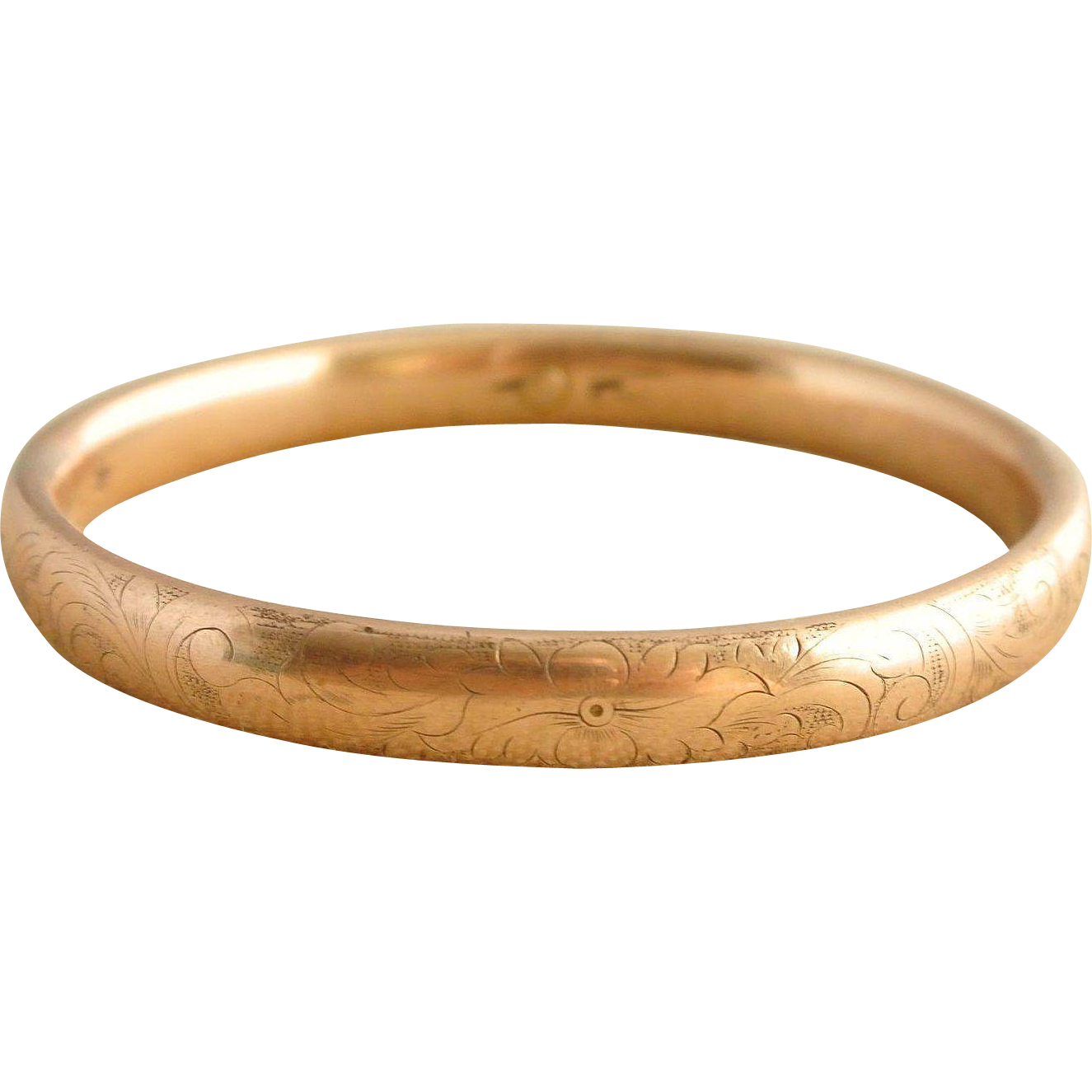 Gold-Filled Victorian Child's Hallmarked Bangle Bracelet
