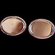 Vintage Signed Avon Gold-Filled Oval Cufflinks