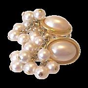 Faux Pearl Cabochon Dangle Earrings Liz Claiborne