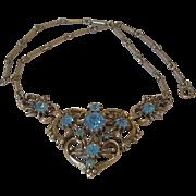 1950's Signed Coro Rhinestone Necklace Book Piece