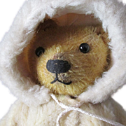 SOLD Adorable c1930s Mohair Bear with Coat, Straw Stuffed