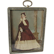 c1860-70s Opalotype, Opaltype Photograph of a Lovely Lady