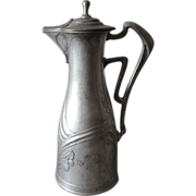Antique Art Nouveau Pitcher Kayserzinn, Orvitz