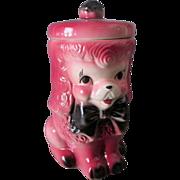 c1950's American Bisque Pink Poodle Dog Cookie Jar
