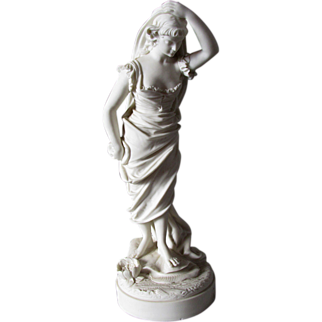 c1896 Parian Water Nymph, Goddess by Robinson Leadbeater