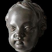 Charming Bronze Sculpture of a Cherub or Baby
