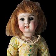 "Antique 9 1/2"" French Mignonette Bisque Socket Head Doll"