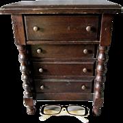 Charming Vintage Miniature Doll Dresser, Jewelry Box