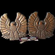 Pair Art Deco Bronze Eagle Architectural Elements, Plaques