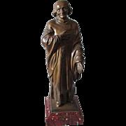 SOLD Antique Bronze Sculpture Catholic Bishop Benedict Joseph Flaget (1763–1850)