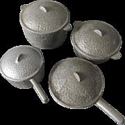 Rare 8 Pc Guardian Aluminum Salesman Sample, Toy Cookware Set