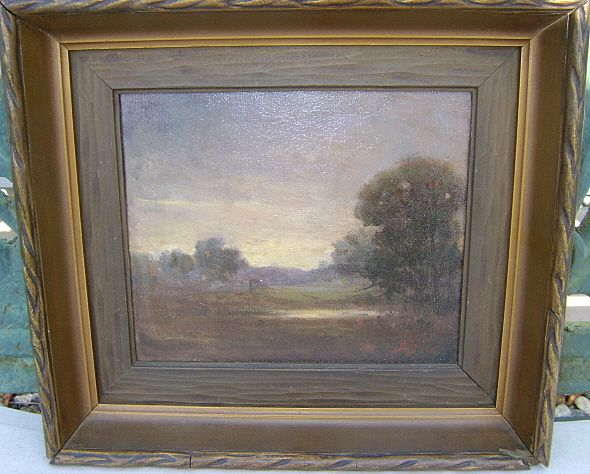 "Bertha Stringer Lee Oil Painting Landscape ""Twilight"""