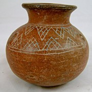Guatemalan Incised Pot with Rounded Bottom, circa 600-800 AD