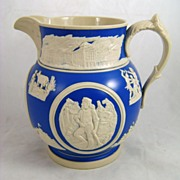 19th c. Copeland Spode Commemorative Chicago Pitcher by Burley