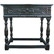 Jacobean Side Table with Drawer