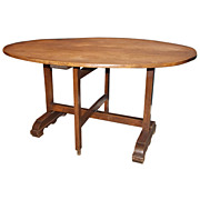 19th c. French Oval Wine Tasting Table