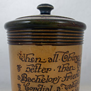 Royal Doulton Pottery Covered Tobacco Jar c. 1910
