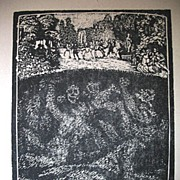 Vintage 20s Budzinski GERMAN Print Woodcut French Revolution EXTRAORDINARY!