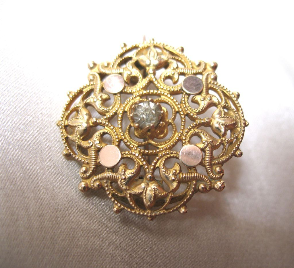 Antique French Pin Brooch NAPOLEON III 19th C Century DIVINE!