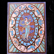 Vintage 20s French Art DECO Print Zodiac SIGNED DIVINE!