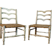 Pair of 19th Century Antique French Provincial Child Chairs